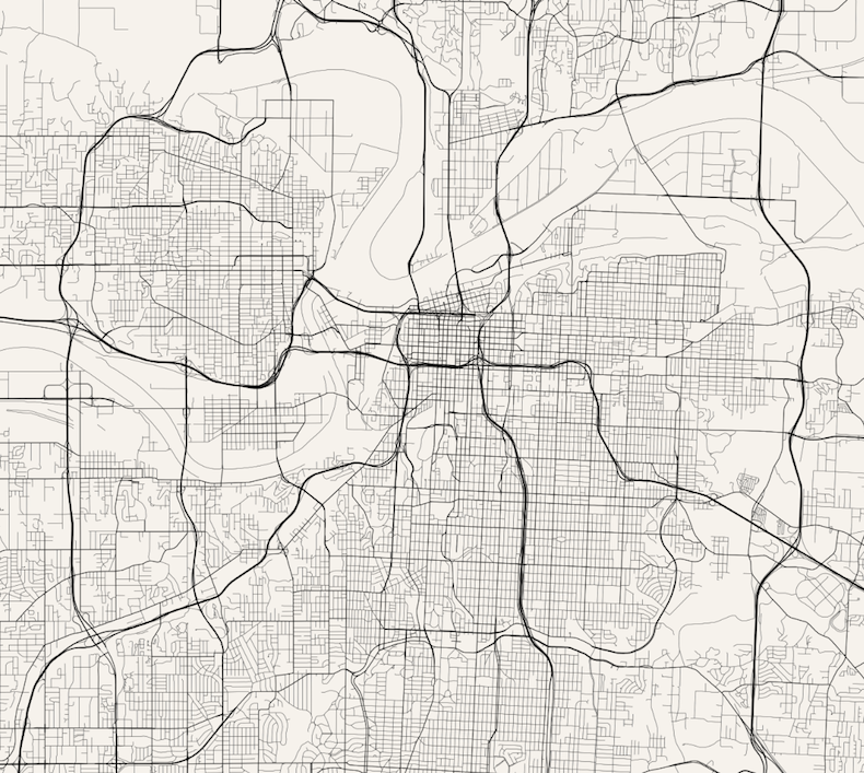Line Drawing Ks : Kansas city streets map remix jim vallandingham